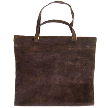 Pictured here is the Dark Brown Suede Log Carrier manufactured by Minuteman.
