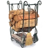 Pictured is the Country Hearth Wood Holder with Fireplace Tool Set manufactured by Minuteman
