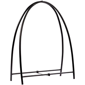 Pictured here is the Large Metal Arch Firewood Holder manufactured by Minuteman.