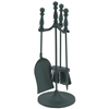 Pictured is the 22-in Mini Fireplace Tool Set with Ball Handles manufactured by Minuteman