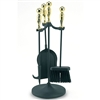 Pictured is the Brass Handle 22-in Mini Fireplace Tool Set manufactured by Minuteman