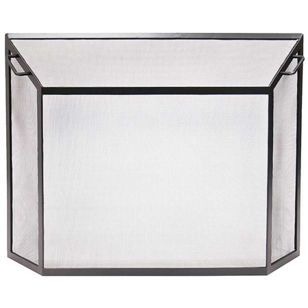 Pictured here is the Contemporary Spark Guard Fireplace  Screen.
