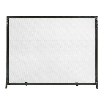Pictured here is the Plain By Design 44-in x 33-in Fireplace Screen.