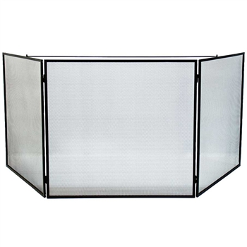 Pictured here is the Large Child Guard Tri-Fold Hearth Screen .