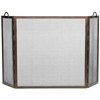 Pictured here is the Bronze 3-Fold Twisted Rope Metal Hearth Screen .