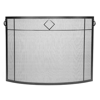 Pictured here is the Diamond Emblem Curved Fireplace Screen  .