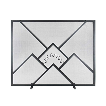 Pictured here is the Sunrise Standard Fireplace Screen.