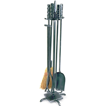 Pictured is the 5 Piece Wright Design Fireplace Tool Set manufactured by Minuteman