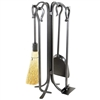 Pictured is the 22-in Shepherd's Hook Fireplace Tool Set manufactured by Minuteman