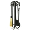 Pictured is the Shepherd's Hook 5 Tool 26-in Fireplace Tool Set manufactured by Minuteman
