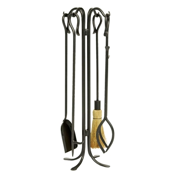Pictured is the Hearth Hook Fireplace Tool Set manufactured by Minuteman