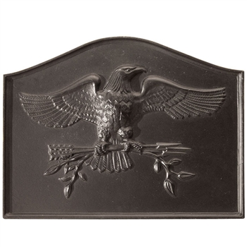 Pictured here is the American Eagle Fireback that measures 24-inch x 18-inch