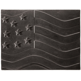 Pictured here is the American Flag Fireback that measures 24-inch x 18-inch