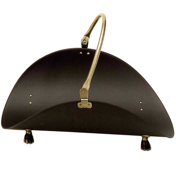 Pictured here is the Log Basket with Antique Brass Plated Handle manufactured by Minuteman.