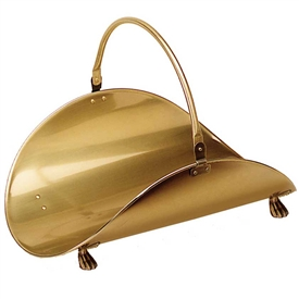 Pictured here is the Antique Brass Plated Log Basket manufactured by Minuteman.