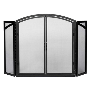 Pictured here is the Folding Fireplace Screen with Doors.