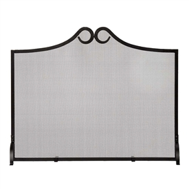 Pictured here is the Loops Metal Mesh Fireplace Screen.
