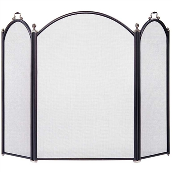 Pictured here is the Hearth Screen with Arched Front and Sides.