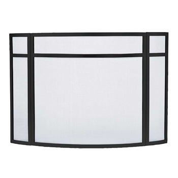 Pictured here is the Curved Paneled Folding Fireplace Screens.