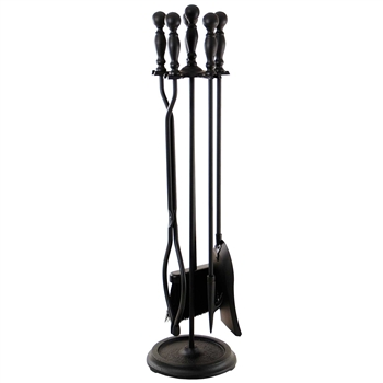 Pictured is the Ball Handle Fireplace Tool Set manufactured by Minuteman