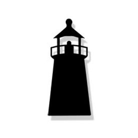 Wrought Iron Lighthouse Magnet