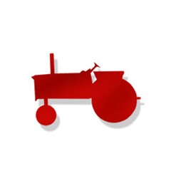 Wrought Iron Tractor RED Magnet