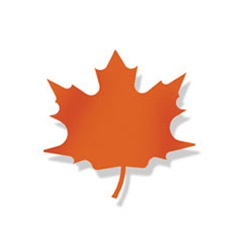 Wrought Iron Maple ORANGE Magnet