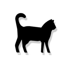 Wrought Iron Cat Magnet