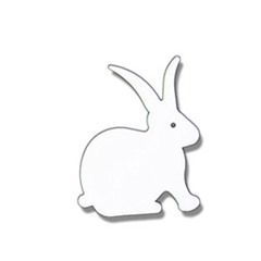 Wrought Iron Rabbit Magnet WHITE