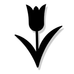 Wrought Iron Tulip Magnet