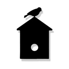 Wrought Iron Birdhouse Magnet