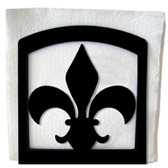 Wrought Iron Fleur-de-lis Napkin Holder