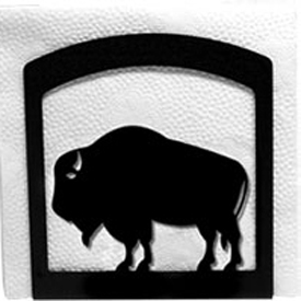 Wrought Iron Buffalo Napkin Holder
