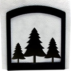 Wrought Iron Pine Trees Napkin Holder