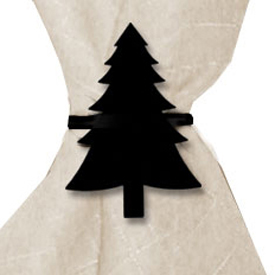 Wrought Iron Pine Tree Napkin Ring