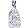 Pictured here is the Zebra Small Glass Bottle, hand-made from recycled glass.