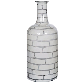 Pictured here is the Mirage Large Glass Jar, hand-made from recycled glass.