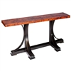 Pictured here is the Winston Console Table with Wrought iron base and Rectangle Hammered Copper Table Top