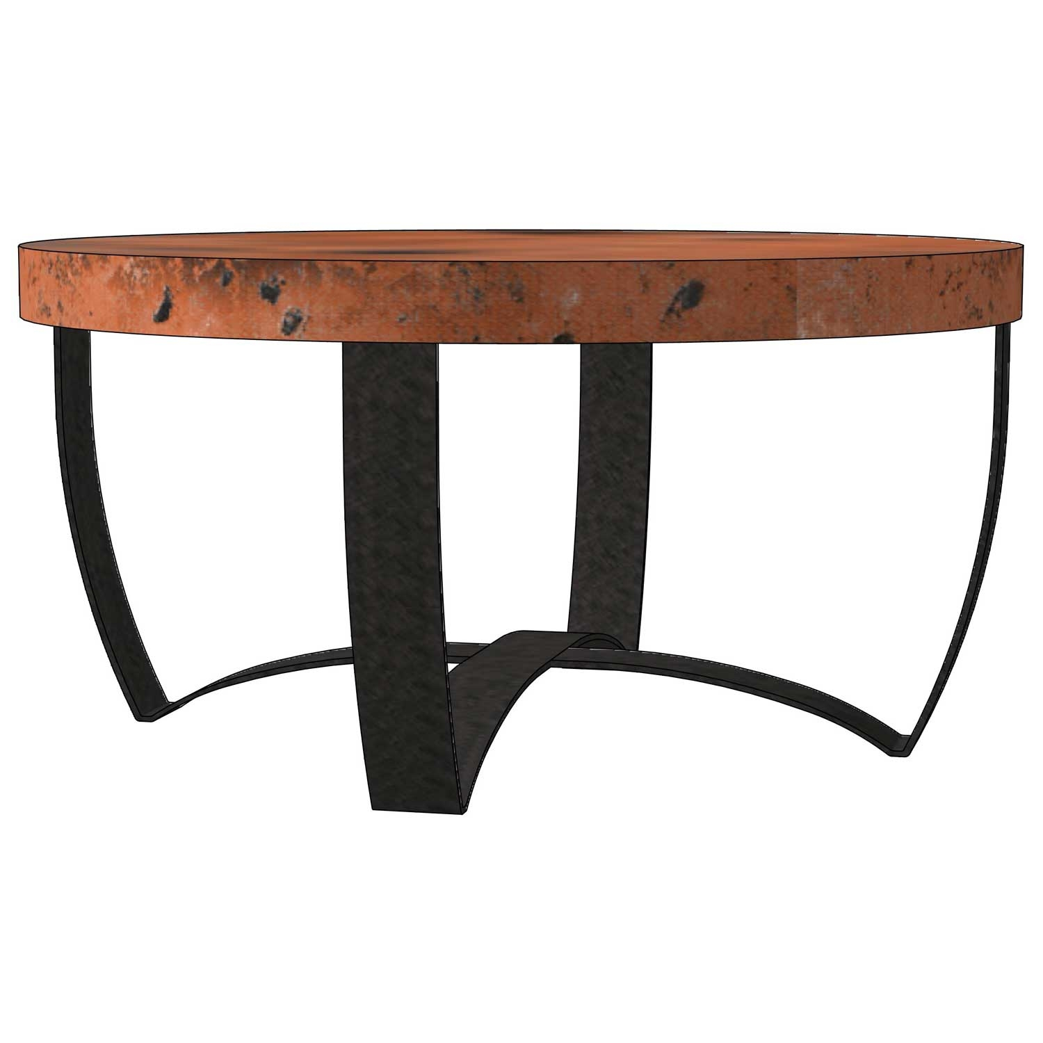 Round Strap Coffee Table Base Only Iron