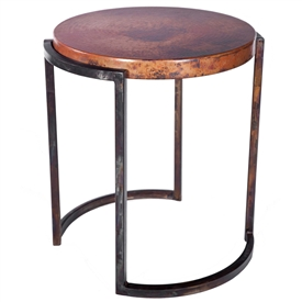 Pictured is the Upper Avenue Round End Table Base available in 3 finish options and supports a 22 inch round table top of your choice.