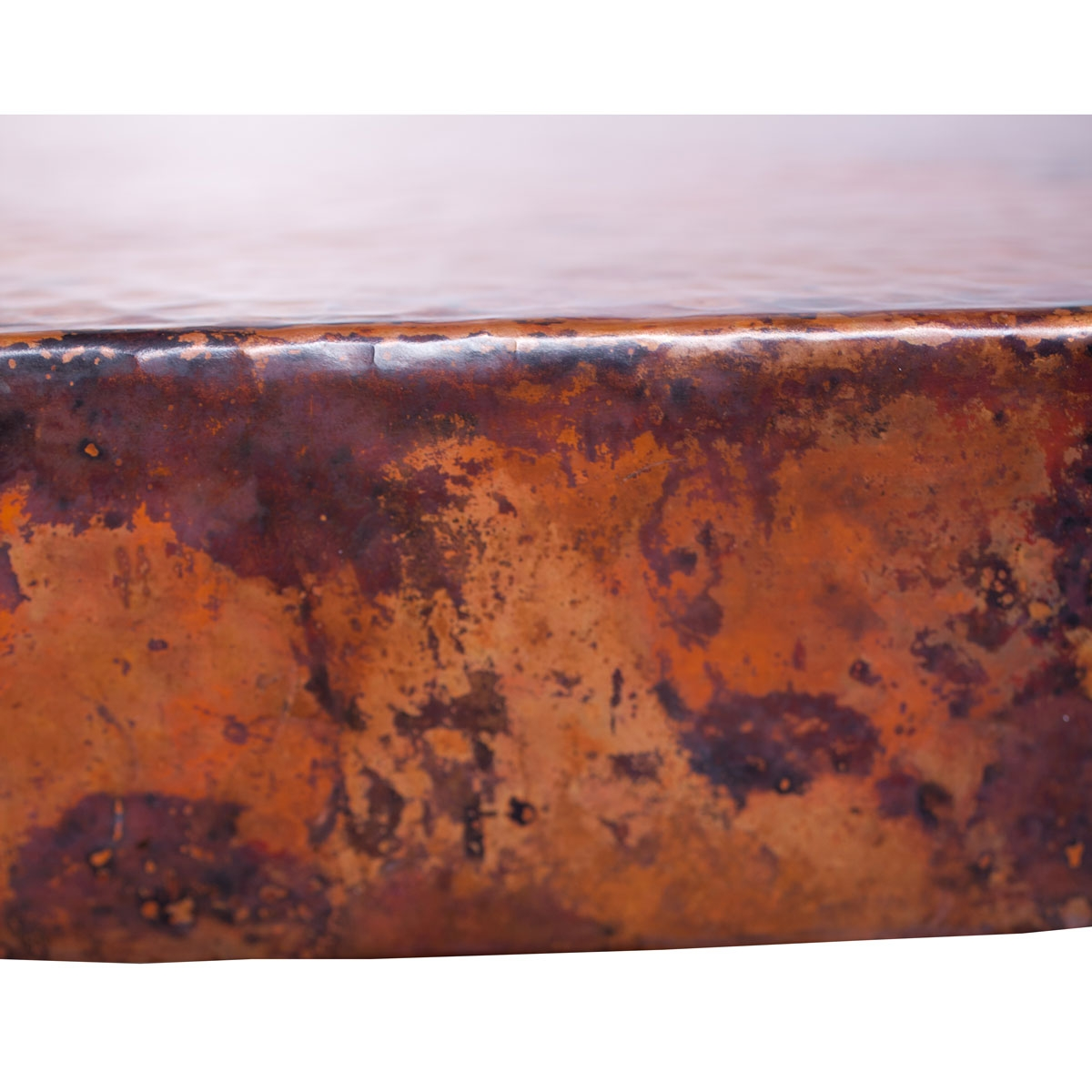 Price: $1,967.25 - Axel Iron Coffee Table With Round Hammered Copper Top