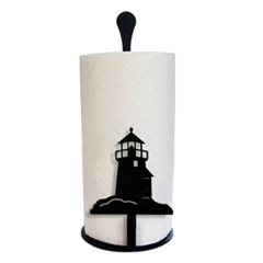Wrought Iron Lighthouse Paper Towel Stand