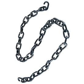 Pictured is a section of iron chain with two open links at each end