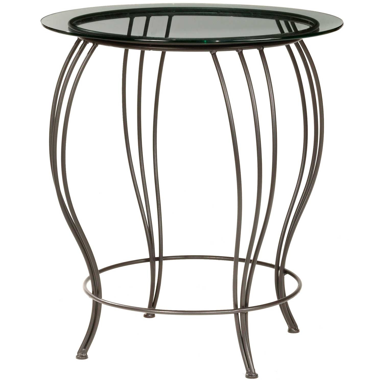 Pictured Here Is The Bella Bar Height Table With A 30 Inch Glass Top And  Black