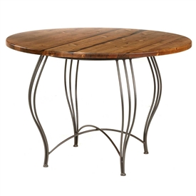 Bella Breakfast Table Hand-forged by Stone County Ironworks, sold at www.TimelessWroughtIron.com
