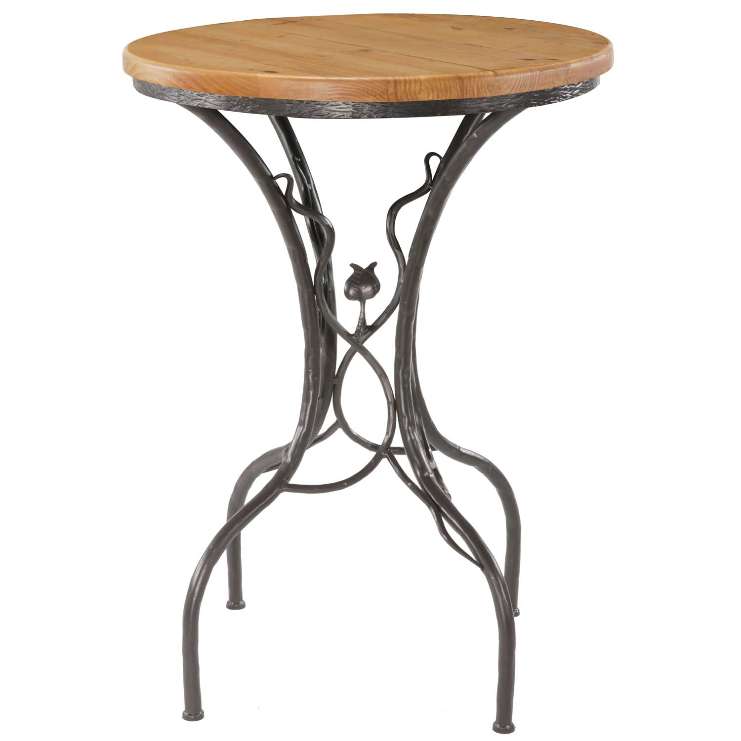 Sassafras Bar Height Table With In Round Top - Stone top counter height table