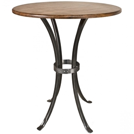 Pictured Here Is The Montage Counter Height Table With A Wrought Iron Table  Base And A