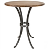 Pictured here is the Montage Bar Height Table with a wrought iron table base and a 42 inch diameter table top.