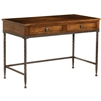 Pictured here is the Forest Hill Linden Desk Wrought Iron Legs and Wood top with 2 drawers from Stone County Ironworks