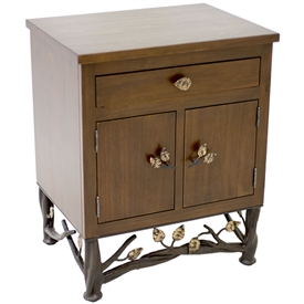 Pictured here is the Enchanted Forest Side Table. Choose from various iron finishes and accent options.